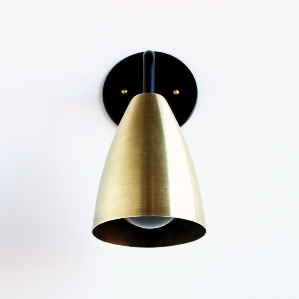 Shaded wall sconce